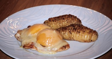 Poulet-Brüstli mit Backed-Potatoes