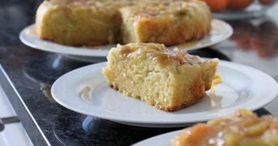 Rezept Upside Down Rhabarber-Kuchen